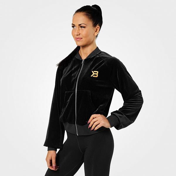 Better Bodies Bowery Zip Ls - Black Detail 1