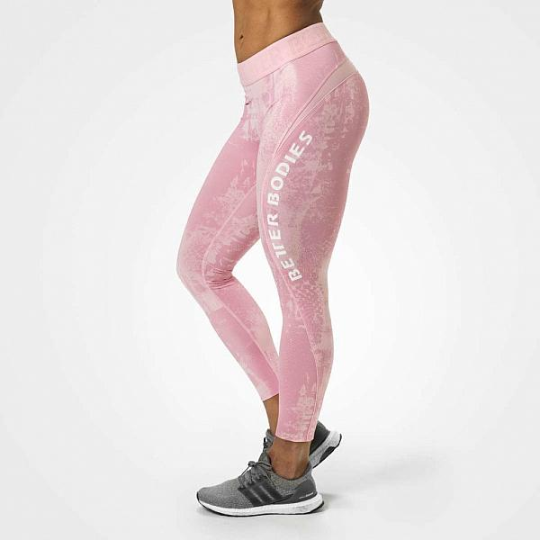 Better Bodies Gracie Curve Tights - Light Pink Print Detail 1